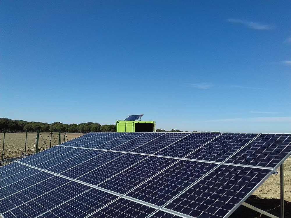 instalación riego solar Mojados pistachos