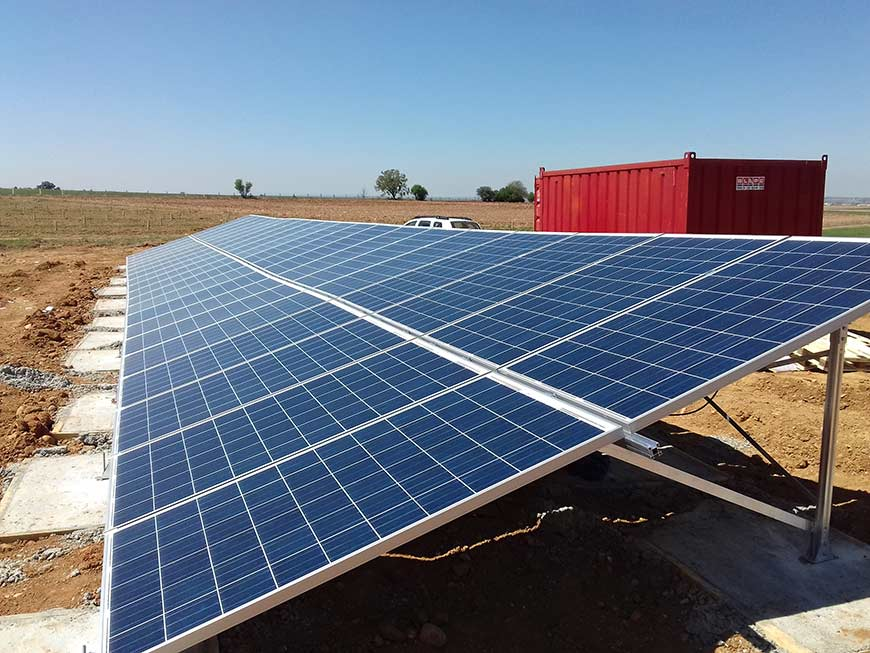 instalación riego solar